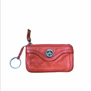 Marc By Marc Jacobs Orange Leather Coin Pouch
